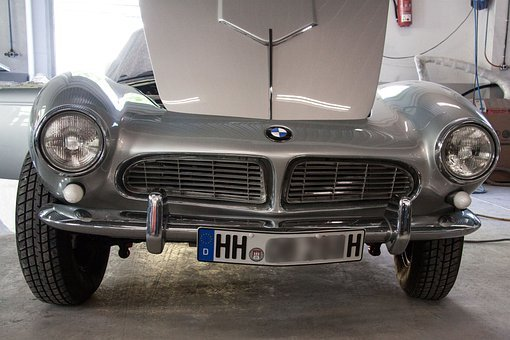Bmw 507, Engine Compartment, Two Seater Roadster