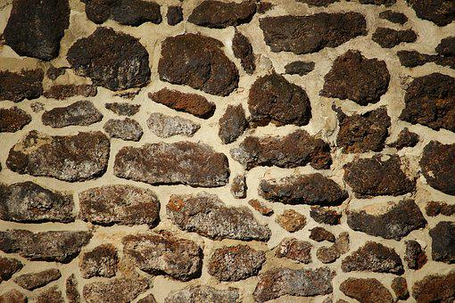 Wall, Stone, Rasenerz, Feilenmoos, Klump