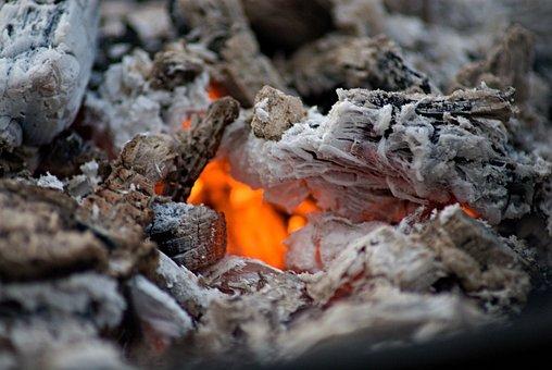 Fire, Wood Charcoal, Burning, Ash, Hot, Ember