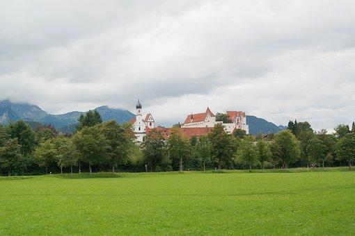 Füssen, Franciscan Church, St Mang Abbey, High Castle