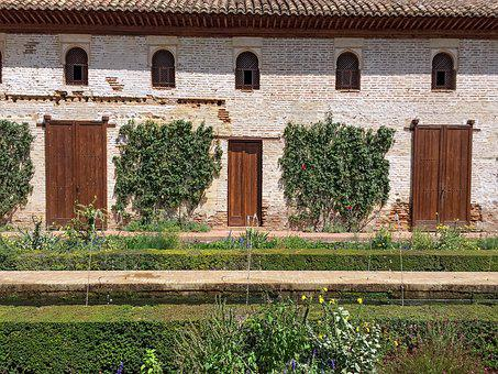 Granada, Alhambra, Generalife, Garden, Water, Rural