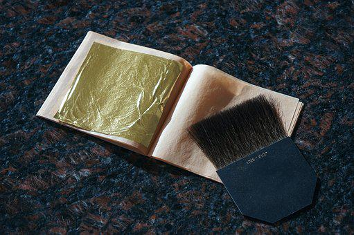Gold, Leaf, Gold Leaf, Gilding, Brush, Metal