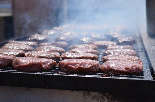 Grill, Burgers, Food, Meat, Hamburgers, Smoking
