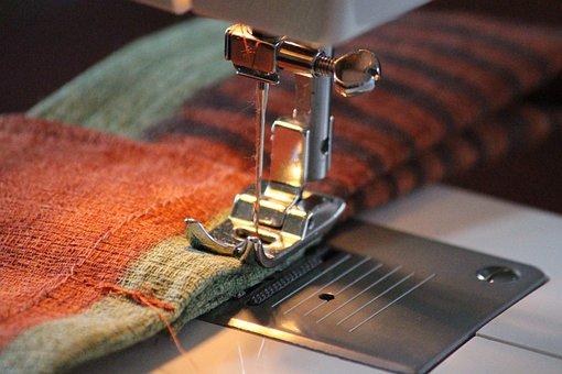 Sewing Machine, Fabric, Sew, Hand Labor, Pattern