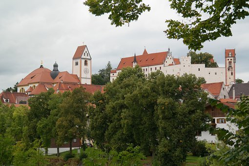 Füssen, St Mang Abbey, High Castle, Monastery, Castle