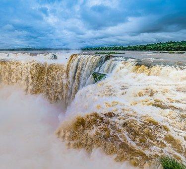 Waterfall, Water, Waterfalls, Landscape, Nature, Waters
