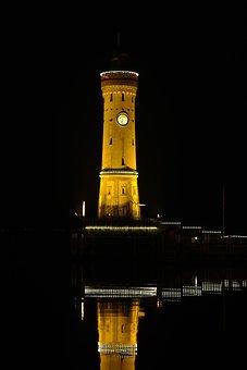 Lindau, Port, Lighthouse, Lake Constance, Lake, Water
