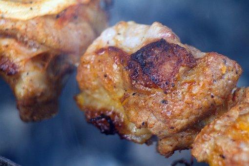 Shish Kebab, Meat, Coals, Skewers, Mangal, Fried Meat