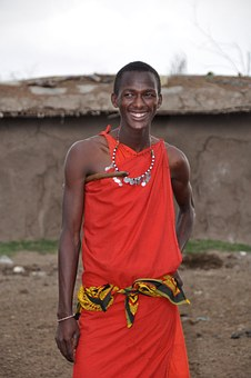 Masai Warrior, Masai, Man, Happy, Smiling, Culture