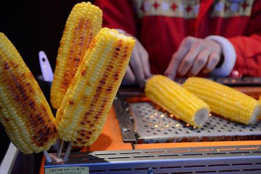 Corn, Baked Corn, Stick, Bake, Food, Vegetable, Meal
