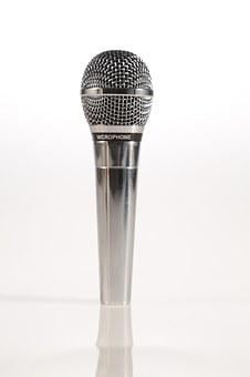 Microphone, Mic, Silver, Talk, Comedy, Stand-up, Speech