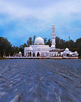 Mosque, Float, Building, Islam, Muslim, Floating, Asia