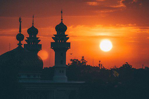 Mosque, Sunrise, Architecture, Landmark, Islam, Muslim