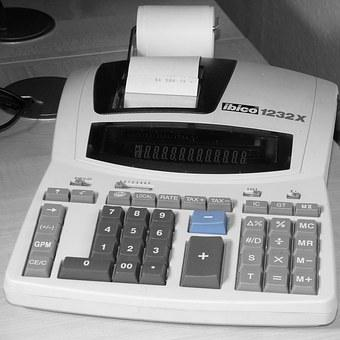 Office, Calculating Machine, Count
