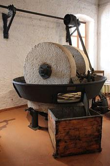 Old, Olive Press, Oil, Wheel, Mill, Ancient, Stone