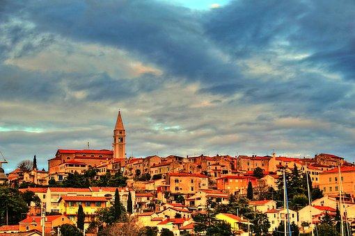 Old Town, Vrsar, Croatia, Istria, Bell Tower, Sky
