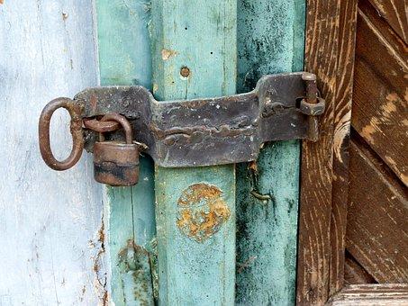Bolt, Castle, Closure, Blocked, Old Wooden Door