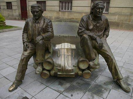 And Revert Antonio, Bronze, Sculpture, Rally, Ourense