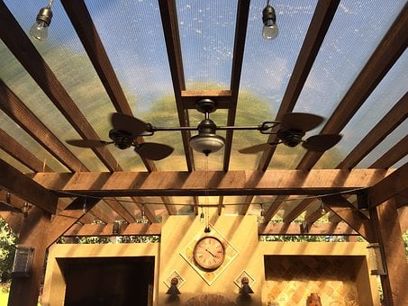 Patio Cover, Outdoor Kitchen, Tile, Copper, Patio