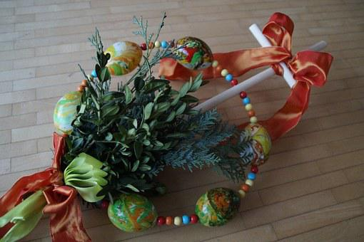 Palm Trees, Customs, Palm Sunday, Upper Swabia, Spring