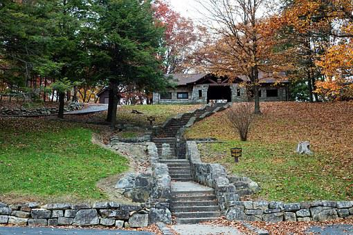 West Virginia, Fall, Autumn, Trees, Picnic Shelter
