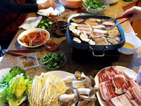 Samgyeopsal, Pork Belly, Korean Cuisine, Ssam