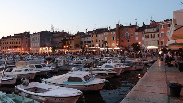 Rovinj, Croatia, Port, Boats, Holiday, Istria