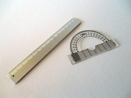 Protractor, Ruler, Measure, Mathematics, Distance