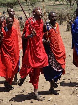 Masai, Dances, Red, Blue