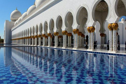 Mosque, Reflecting Pool, Reflection, Pool, Palace