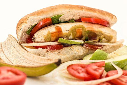 Hot Dog, Banana, Salad, Unexpected, Mistake, Bizarre