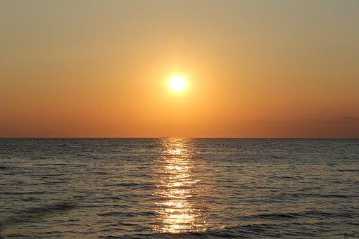 Sunset, Sea, Horizon, Landscape, Croatia, Istria, Sun
