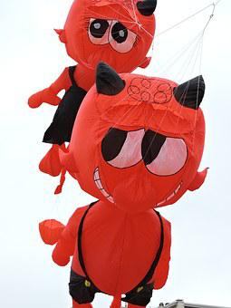 Kites, Happening, Sea, Devil, Red Skin, Air Ballon
