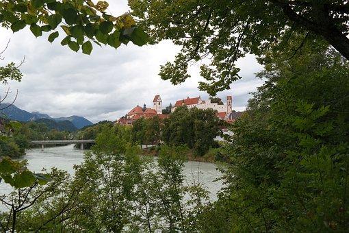 Füssen, Lech, St Mang Abbey, High Castle, Monastery