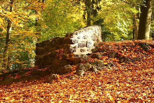 Ruin, Stone Wall, Autumn, Masonry, Wall, Stone, Lapsed