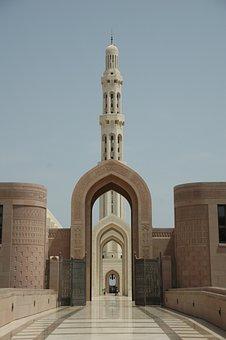 Mosque, Oman, Temple, Islam, Muslim, Minaret