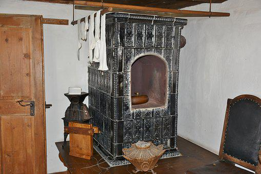 Oven, Tiled Stove, Farmhouse, Fireplace, Heat, Wood
