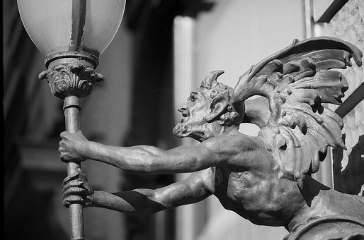 Devil, Lamp, Torch, Architecture, Mean, Vicious, Wings