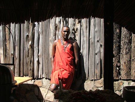 Masai, Warrior, Africa, Kenya, Culture, Tribe, Black