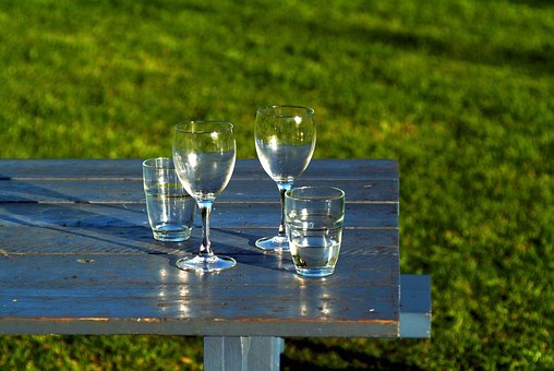Glass, Tumbler, Wine Glasses, Table, Picnic