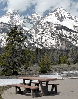 Mountains, Landscape, Winter, Picnic, Snow, Usa