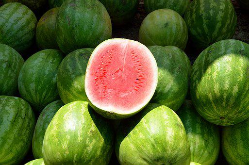 Water Melon, Fruit, Sweet, Melon, Food, Nutrition, Red