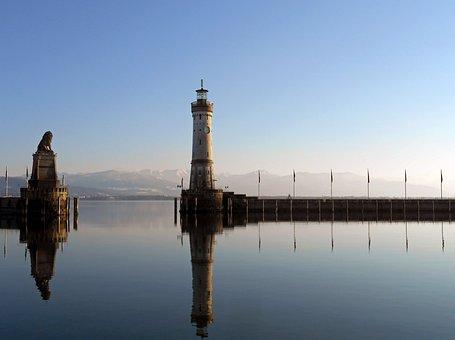 Lindau, Port, Lake Constance, Tower, Bavaria, Water