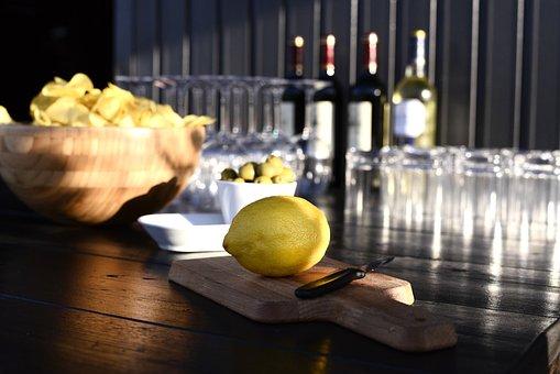 Lime, Wine, Food, Picnic