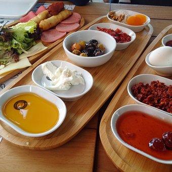 Breakfast, Cheese, Food, Tea, Egg, Morning, Ham, Wood