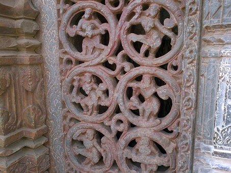 Carvings, Stone, Temple, Ancient, Chandramauleshwara
