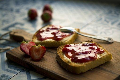 Berry, Bread, Breakfast, Chopping Board, Cutting Board