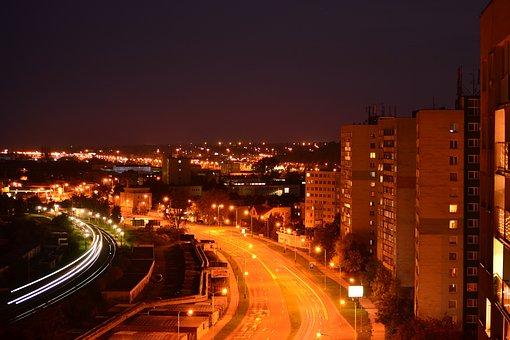 City, Night, Dark, Lights, Light, Tourism, Cars
