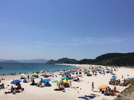 Galicia, Beach, Cíes Islands