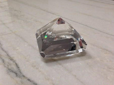 Diamond, Crystal, Clear, Jewel, Transparent, Facet